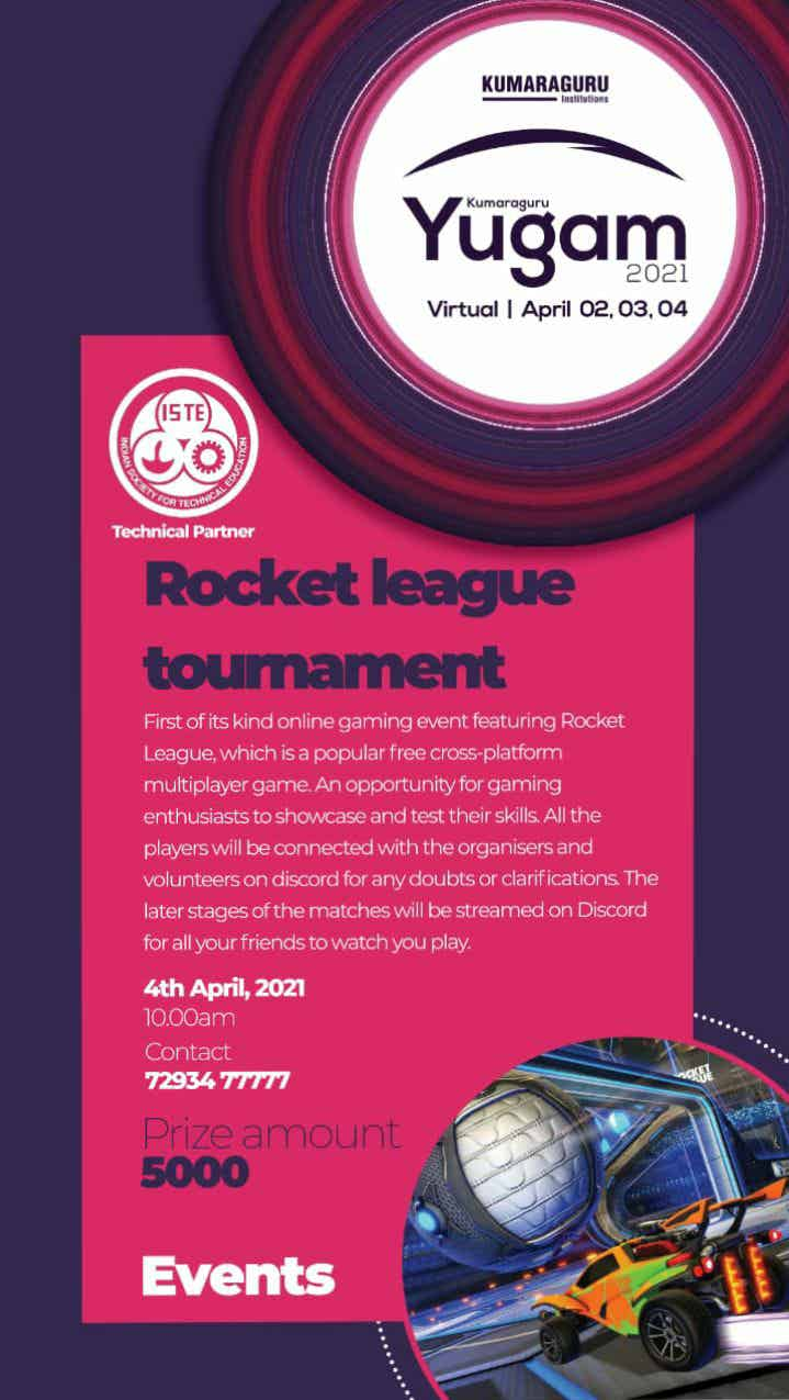 Yugam 2021 Rocket League tournament 2021