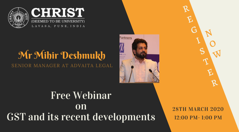 FREE WEBINAR on GST and its recent developments 2020