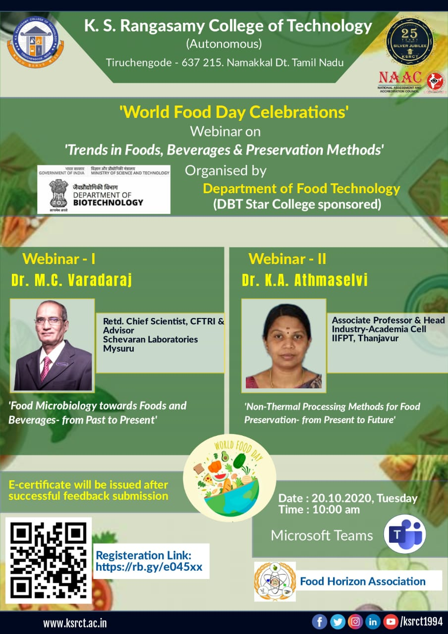 World Food Day Celebrations and Webinar 2020