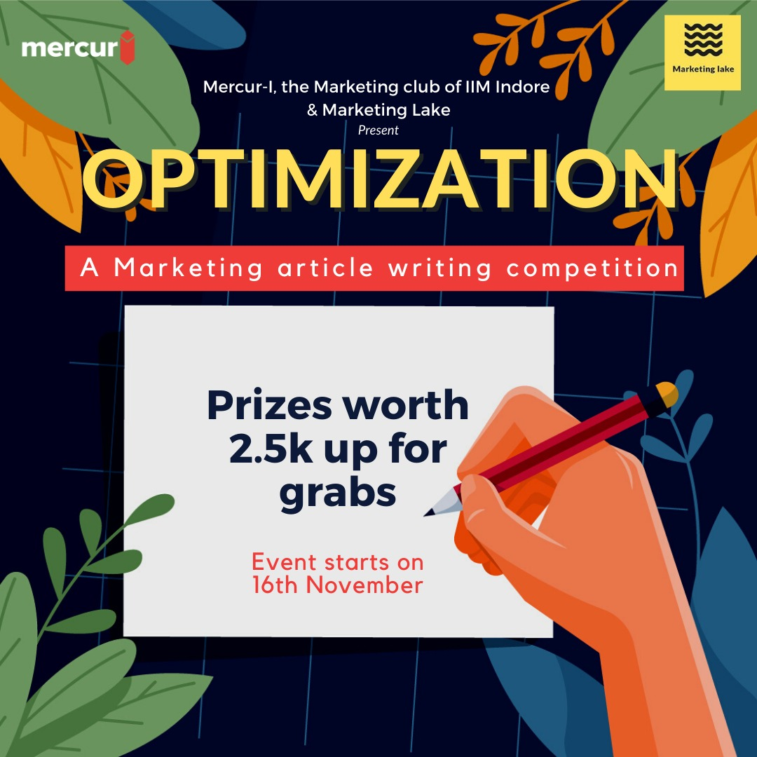 Optimization- An Article Writing Competition 2020
